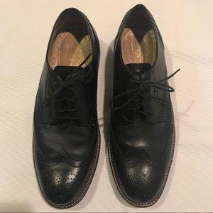 Bass men's lace-up oxfords, black, 10M